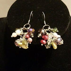 Jewelry - NWOT Swarovski crystals, freshwater pearl earrings